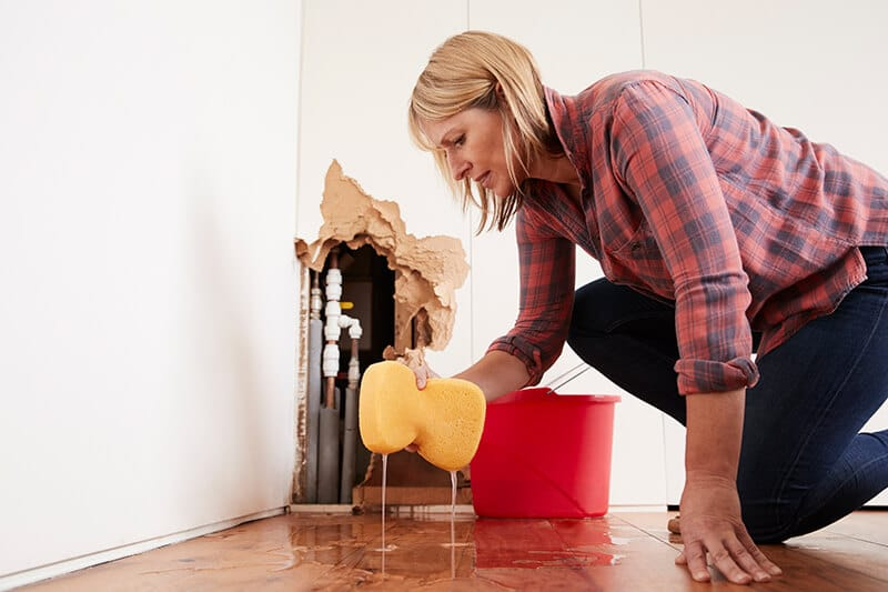 Waterschade aan uw laminaat of houten vloer?